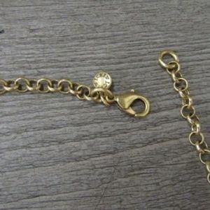 J. Crew Jewelry - J.Crew turquoise & rhinestone flower necklace